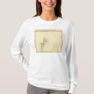 T-shirt Carte d'atlas du Groenland