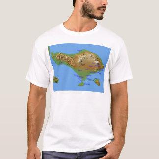 T-shirt Carte de Bali Holliday