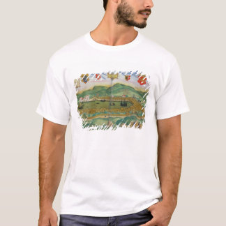 """T-shirt Carte de Bergen, de """"Civitates Orbis Terrarum"""" par"""