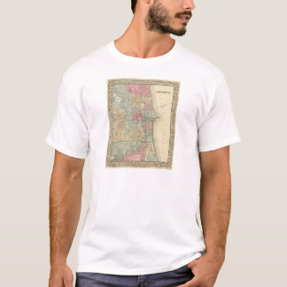 T-shirt Carte de Chicago par Mitchell