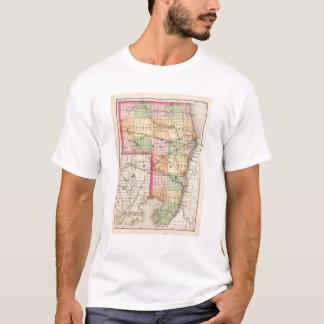 T-shirt Carte de comté de St Clair, Michigan