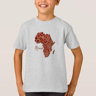 T-shirt Carte de conception de taches de girafe de