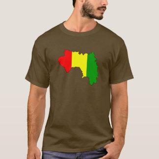 T-shirt Carte de drapeau de Guinée