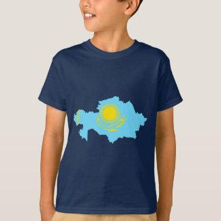 T-shirt Carte de drapeau de Kazakhstan
