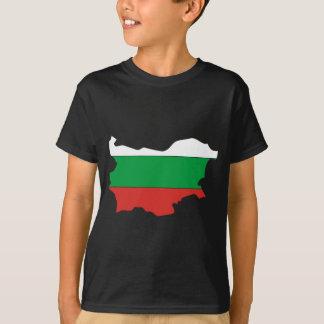 T-shirt Carte de drapeau de la Bulgarie