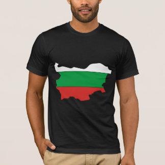 T-shirt Carte de drapeau de la Bulgarie normale
