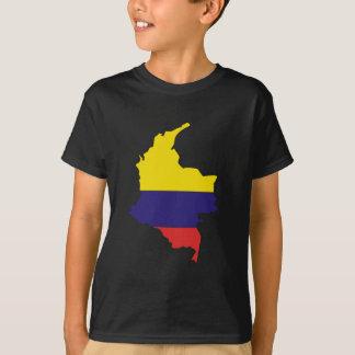 T-shirt Carte de drapeau de la Colombie