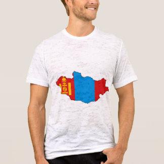 T-shirt Carte de drapeau de la Mongolie