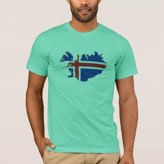 T-shirt Carte de drapeau de l'Islande