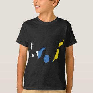 T-shirt Carte de drapeau des Îles Canaries normale