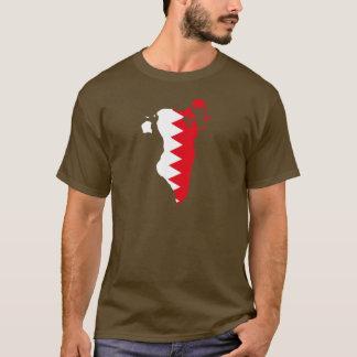 T-shirt Carte de drapeau du Bahrain