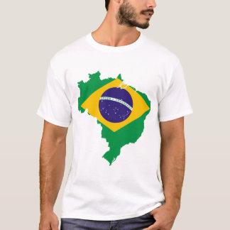 T-shirt carte de drapeau du Brésil