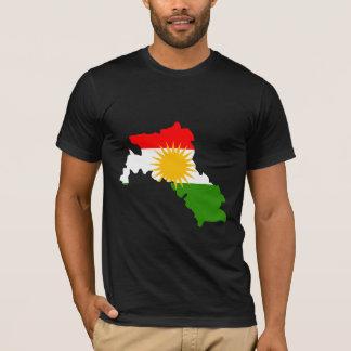 T-shirt Carte de drapeau du Kurdistan normale