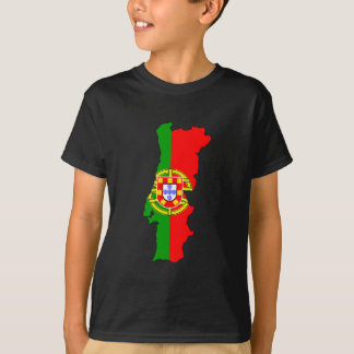 T-shirt Carte de drapeau du Portugal