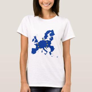 T-shirt Carte de drapeau d'Union européenne