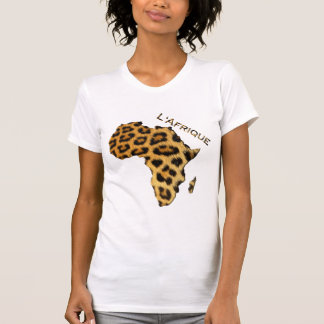 T-shirt Carte de Fourrure-effet de léopard de série de
