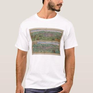 T-shirt Carte de Gênes et de Florence, de 'Civitates Orbis