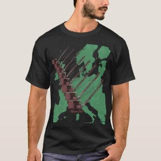 T-shirt Carte de grue de chenille d'ingénieur de opération