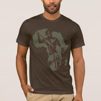 T-shirt Carte de guerrier et d'Afro-américain africains de