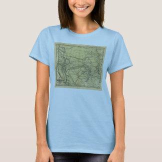 T-shirt Carte de Josiah Gregg 1844 du territoire indien