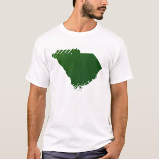T-shirt Carte de la Caroline du Sud