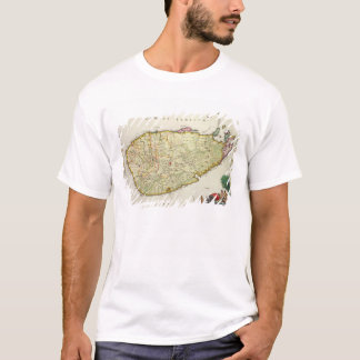 T-shirt Carte de la Ceylan selon Nicolas Visscher