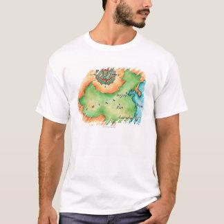 T-shirt Carte de la Chine