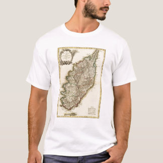 T-shirt Carte de la France Boundries