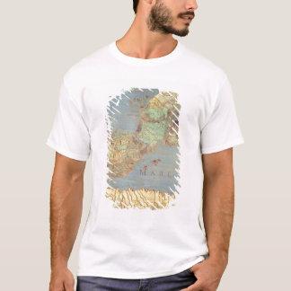 T-shirt Carte de la France, de l'Espagne et de l'Afrique