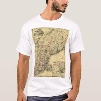 T-shirt Carte de la Nouvelle Angleterre et des environs