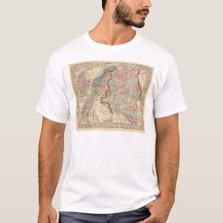 T-shirt Carte de la Russie, Suède, Norvège par Mitchell