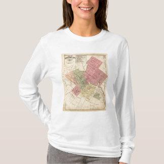T-shirt Carte de la ville 1877 de Petaluma