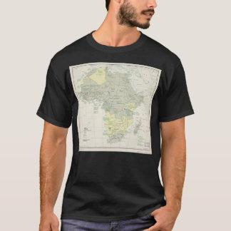 T-shirt Carte de l'Afrique, statut administratif (avril
