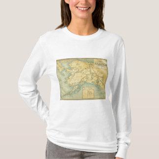 T-shirt Carte de l'Alaska