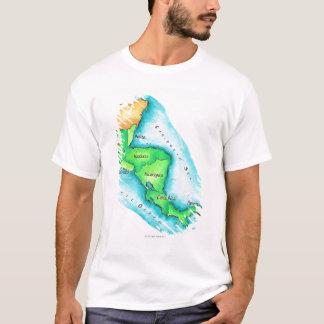 T-shirt Carte de l'Amérique Centrale
