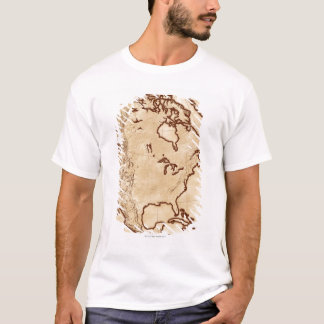 T-shirt Carte de l'Amérique du Nord 2
