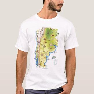 T-shirt Carte de l'Amérique du Sud