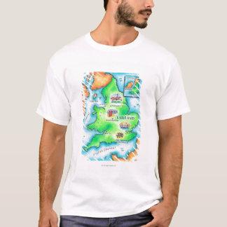 T-shirt Carte de l'Angleterre
