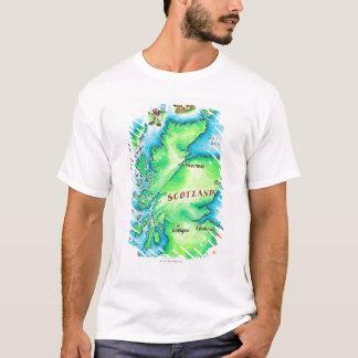 T-shirt Carte de l'Ecosse