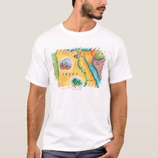 T-shirt Carte de l'Egypte