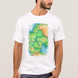 T-shirt Carte de l'Europe de l'Est