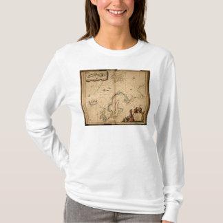 T-shirt Carte de l'Europe du Nord