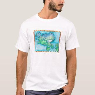 T-shirt Carte de l'Islande