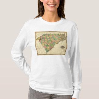 T-shirt Carte de nord et de Caroline du Sud