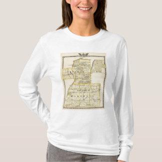 T-shirt Carte de Putnam et partie est de comtés de
