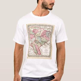T-shirt Carte de Putnam, Kanawha, comtés de Boone
