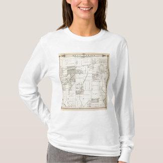 T-shirt Carte de section de Ne 1/4 Tulare County de T19S
