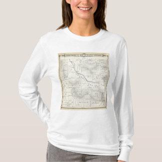 T-shirt Carte de section de T19S R27E Tulare County