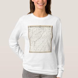 T-shirt Carte de section de T20S R22E Tulare County