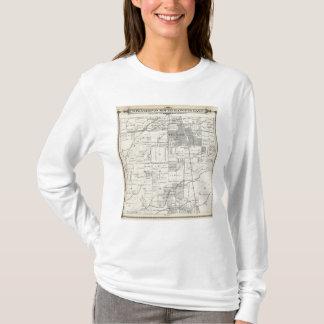 T-shirt Carte de section de T20S R24E Tulare County